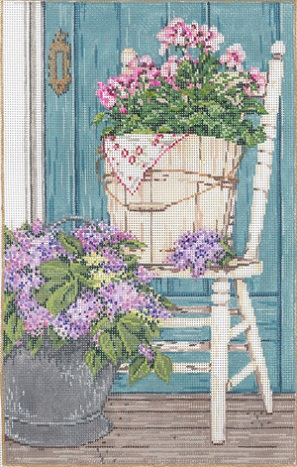 click here to view larger image of Garden Gems (hand painted canvases)