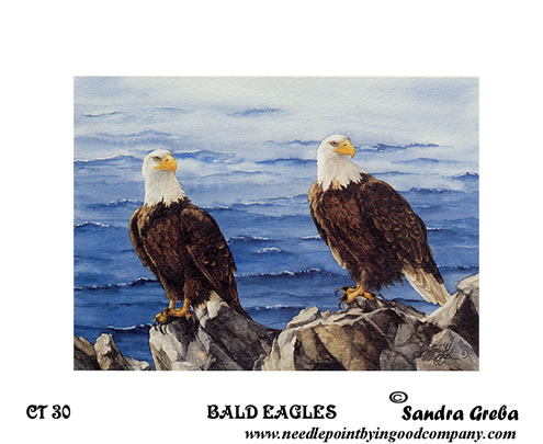 click here to view larger image of Bald Eagles (hand painted canvases)