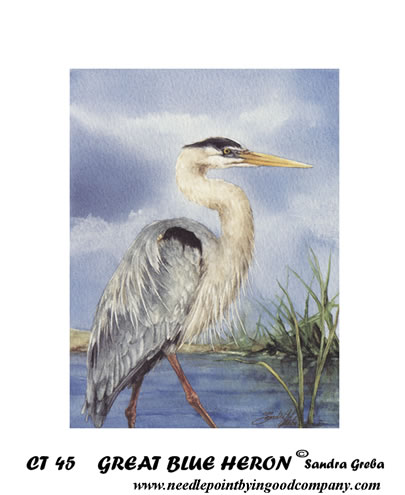 click here to view larger image of Great Blue Heron (printed canvas)