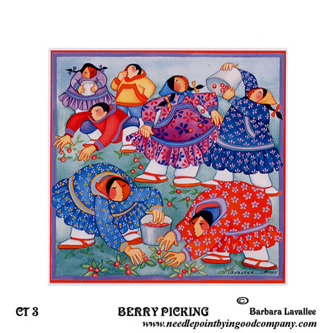 click here to view larger image of Berry Picking (printed canvas)