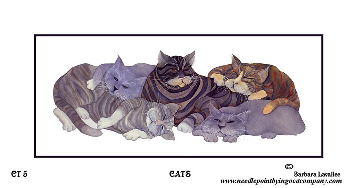 click here to view larger image of Cats (printed canvas)