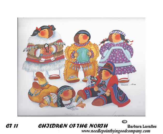click here to view larger image of Children Of The North (hand painted canvases)