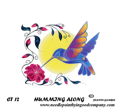 click here to view larger image of Humming Along (printed canvas)