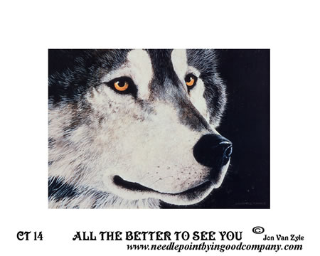 click here to view larger image of All The Better To See You (printed canvas)