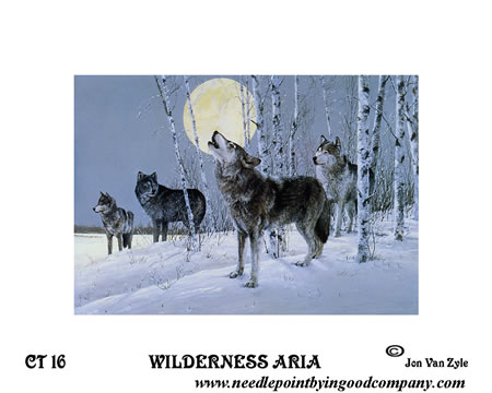 click here to view larger image of Wilderness Aria (hand painted canvases)