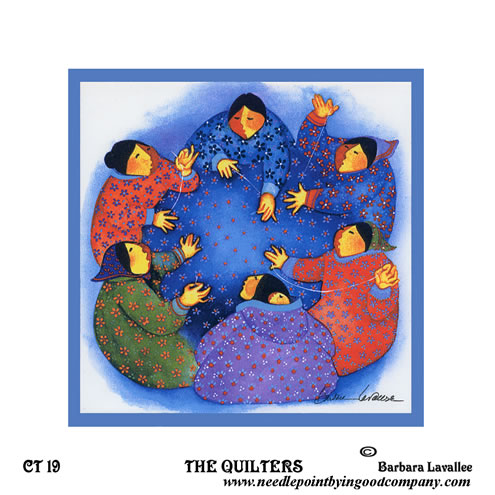 click here to view larger image of Quilters, The (hand painted canvases)