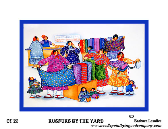 click here to view larger image of Kuspuks By The Yard (hand painted canvases)