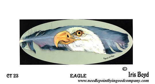 click here to view larger image of Eagle (printed canvas)