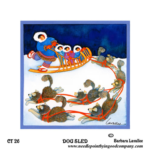 click here to view larger image of Dog Sled (printed canvas)