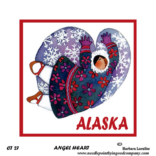 click here to view larger image of Alaska Angel Heart (hand painted canvases)