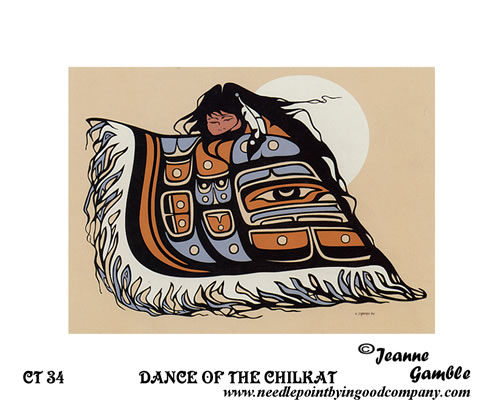 click here to view larger image of Dance Of The Chillkat (Stamped Canvas)