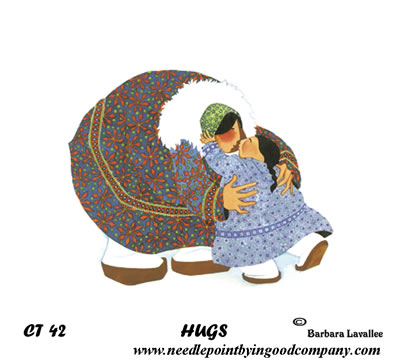 click here to view larger image of Hugs 2 (printed canvas)
