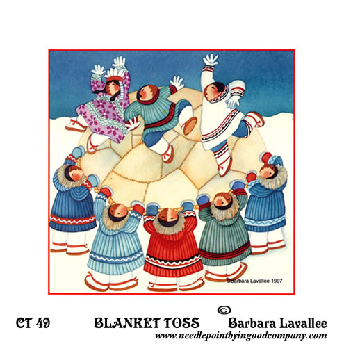 click here to view larger image of Blanket Toss (printed canvas)