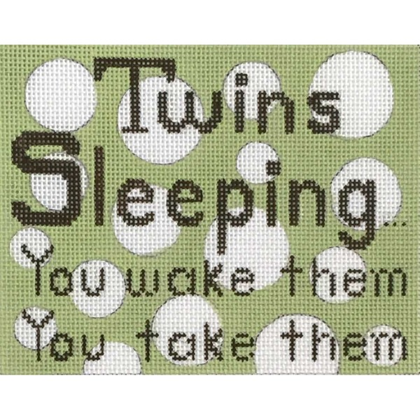 click here to view larger image of Twins Sleeping (hand painted canvases)