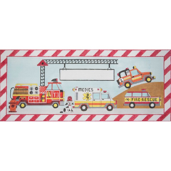 click here to view larger image of Emergency Vehicles (hand painted canvases)