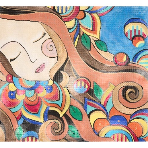 click here to view larger image of Dreaming Woman (hand painted canvases)