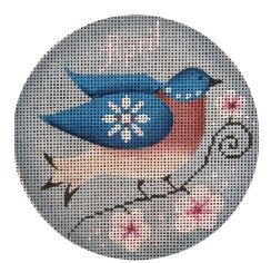 click here to view larger image of April Bird Ornament (hand painted canvases)