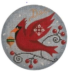 click here to view larger image of December Bird Ornament (hand painted canvases)
