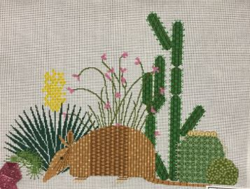 click here to view larger image of Armadillo and Cactus (hand painted canvases)