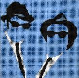 click here to view larger image of Blues Brothers (hand painted canvases)
