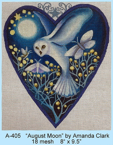 click here to view larger image of August Moon Heart (hand painted canvases)