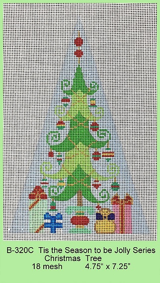 click here to view larger image of Tis The Season To Be Jolly Series - Christmas Tree (hand painted canvases)