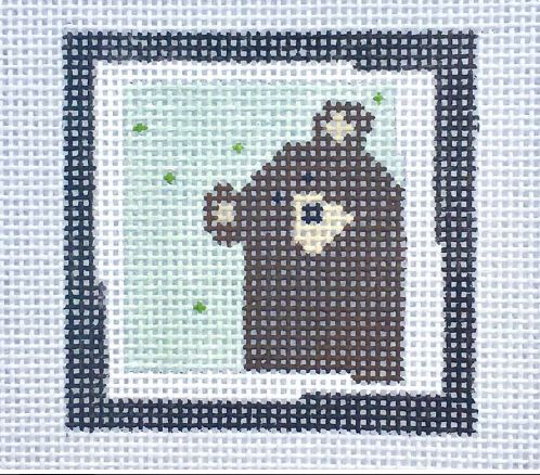 click here to view larger image of Brown Bear Blue (hand painted canvases)