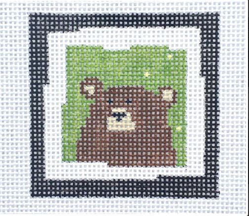 click here to view larger image of Brown Bear Green (hand painted canvases)