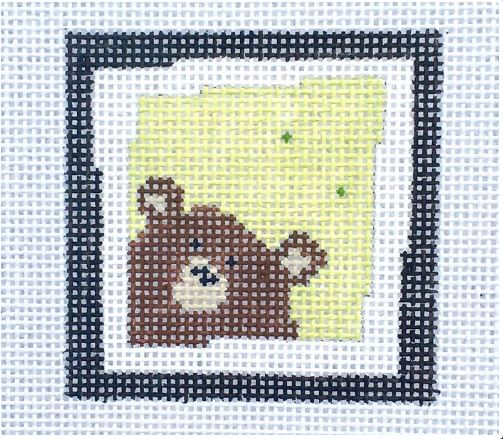 click here to view larger image of Brown Bear Lime (hand painted canvases)
