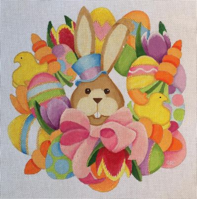click here to view larger image of Easter Wreath (hand painted canvases)