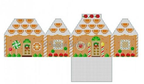 click here to view larger image of Orange Dreamsicle House (hand painted canvases)