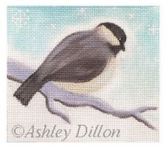 click here to view larger image of Chickadee Looking Down (hand painted canvases)