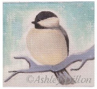 click here to view larger image of Chickadee Looking Left (hand painted canvases)