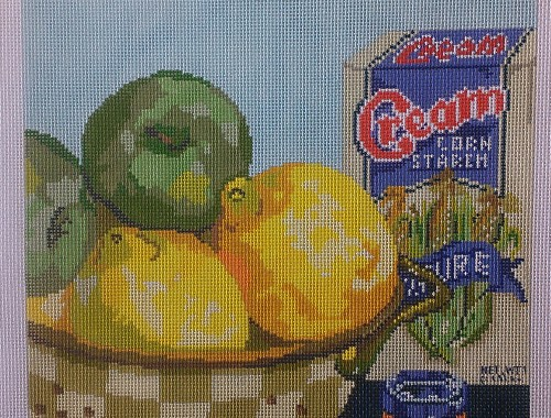 click here to view larger image of Cornstarch and Jam (hand painted canvases)