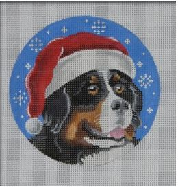 click here to view larger image of Bernese Santa Ornament (hand painted canvases)
