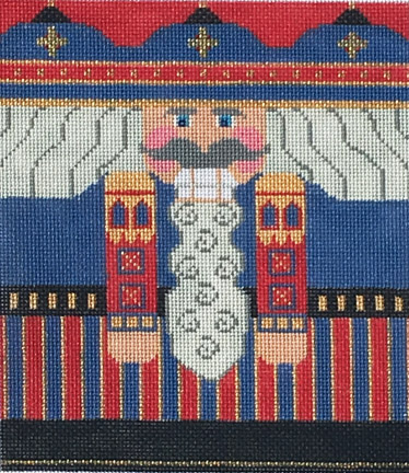 click here to view larger image of Blue/Red Nutcracker Roll Up Stitch Guide (books)