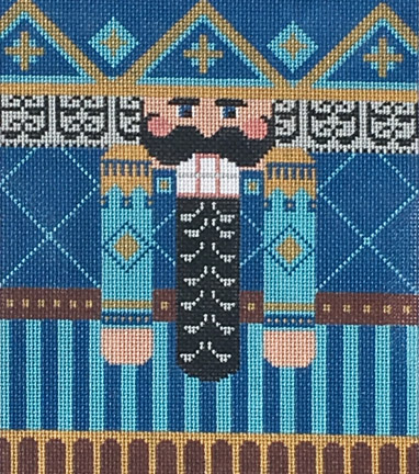 click here to view larger image of Blue/Brown Nutcracker Roll Up Stitch Guide (books)