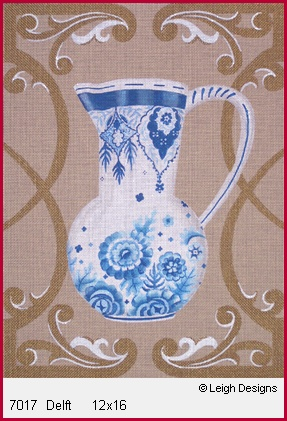 click here to view larger image of Delft (hand painted canvases)