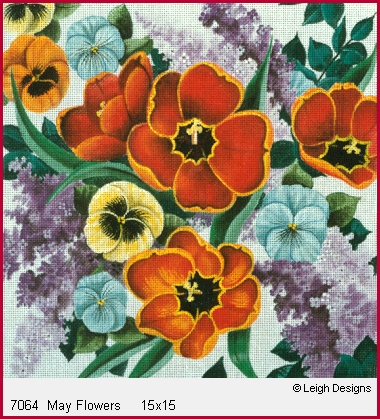 click here to view larger image of May Flowers (hand painted canvases)