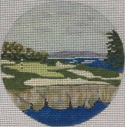 click here to view larger image of Cypress Point VA Ornament (hand painted canvases)