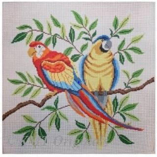 click here to view larger image of Parrots (hand painted canvases)