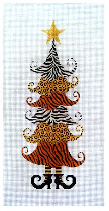 click here to view larger image of Animal Skin Patchwork Tree (hand painted canvases)