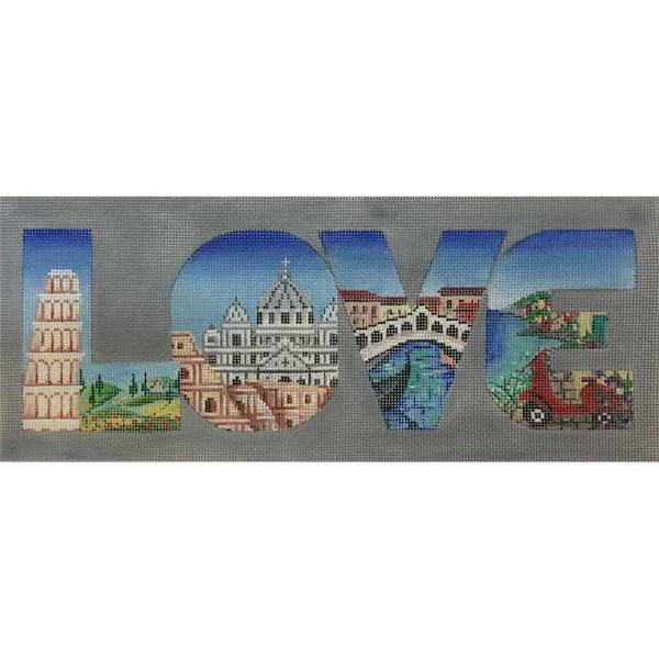 click here to view larger image of LOVE - Italy (hand painted canvases)