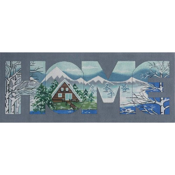 click here to view larger image of HOME - Mountain View (hand painted canvases)