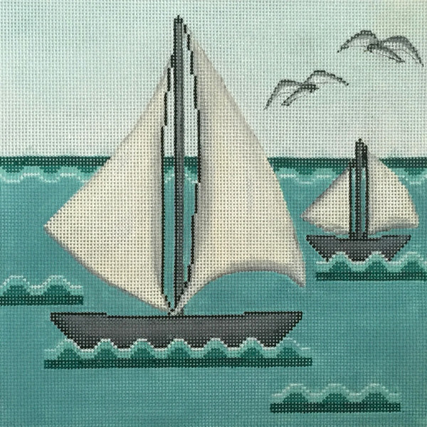 click here to view larger image of Sailing II (hand painted canvases)