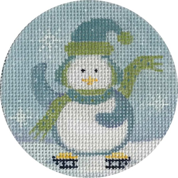 click here to view larger image of Chilly Penguin Ornament (hand painted canvases)