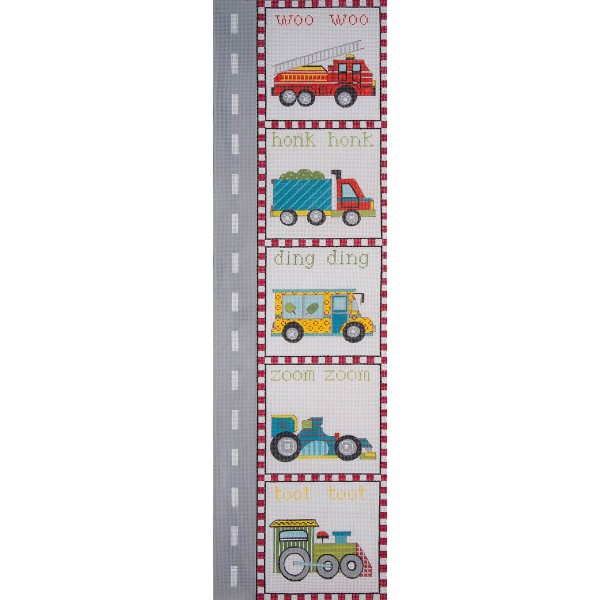 click here to view larger image of Transportation Growth Chart (hand painted canvases)