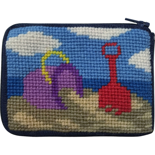 click here to view larger image of Beach Play Coin Case (needlepoint kits)