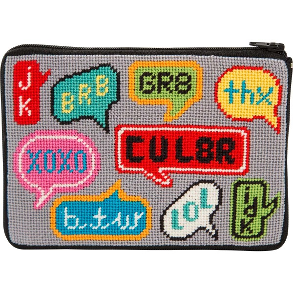 click here to view larger image of Texting Purse (needlepoint kits)