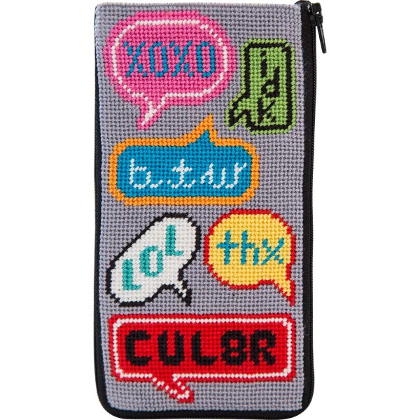 click here to view larger image of Texting Eyeglass Case (needlepoint kits)